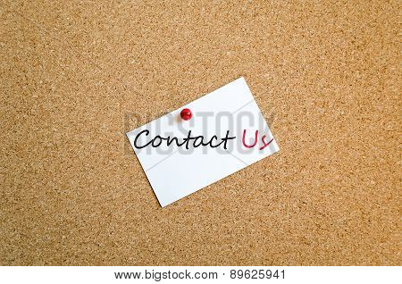 Sticky Note Contact Us Concept