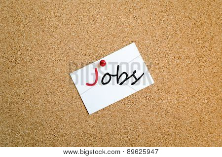 Sticky Note Jobs Concept