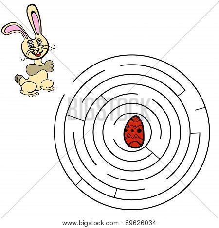Vector illustration. Funny game for kids.