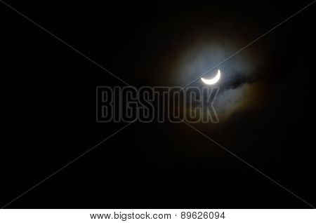 Partial Solar Eclipse Of The Sun.