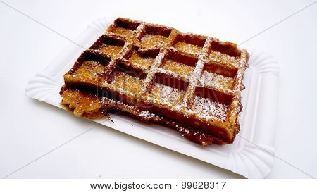 Baked Waffle With Sugar
