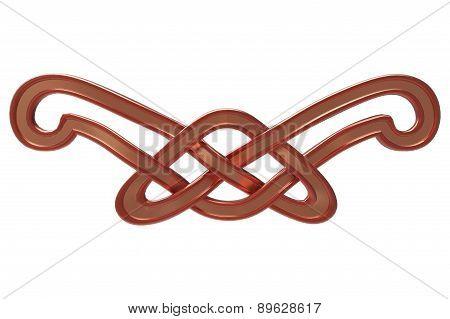 Celtic copper ornament