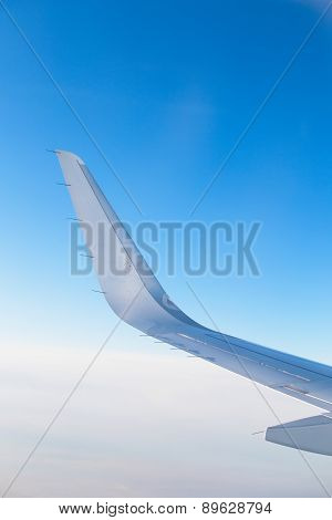 Vertical photo of airplane wing