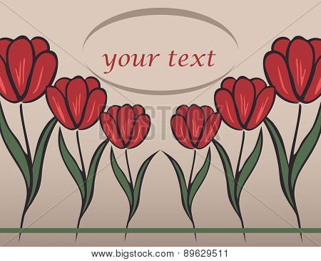 background with tulip