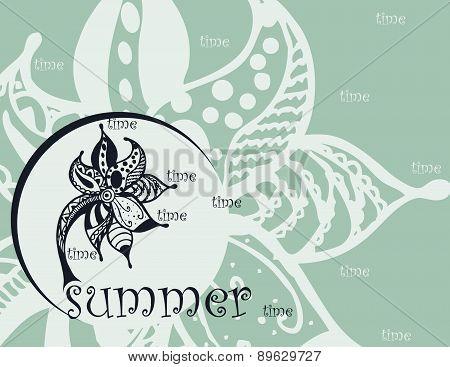 summer zentangl background