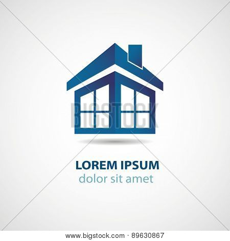 Abstract house logo design
