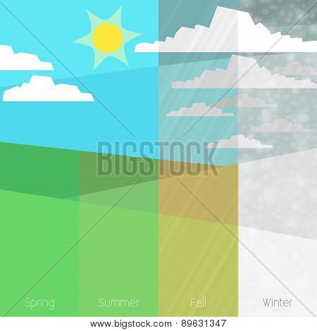 Four Seasons illustration