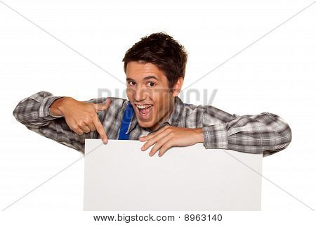 Artisan, Plumber, Construction Worker With Empty Poster