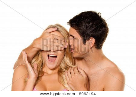Couple Has Fun. Love, Eroticism And Tenderness In Everyday Life.