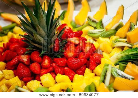 dessert of Fruit composition with dish