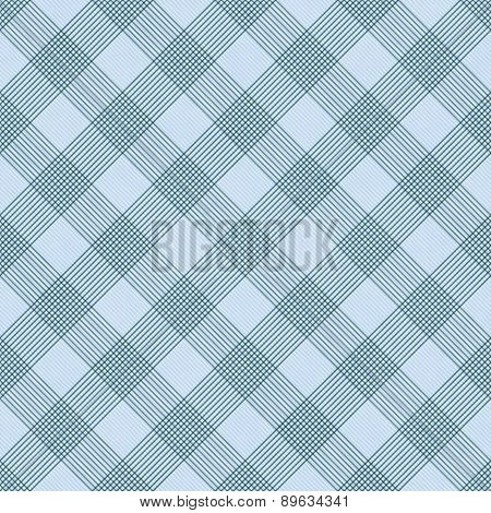 Blue Striped Gingham Tile Pattern Repeat Background