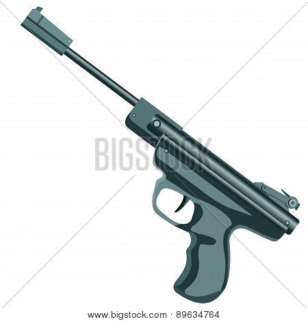 firearm, a pistol on a white background.