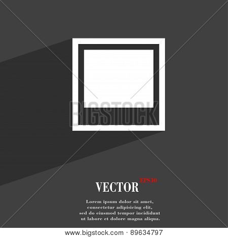 Photo Frame Template Icon Symbol Flat Modern Web Design With Long Shadow And Space For Your Text. Ve