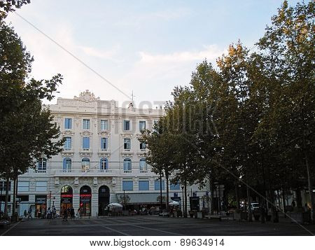 Antibes, France - August 26, 2014: Grand Hotel on Place de Gaulle