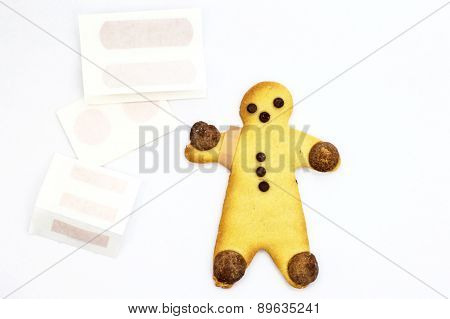 Gingerbread Boy with a plaster