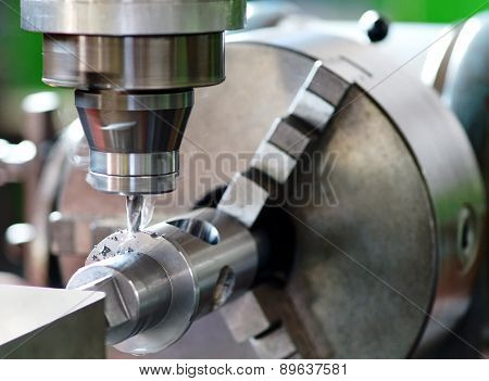 Close Up Of Milling Machine In Operation