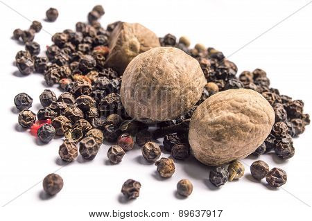 Nutmegs and black pepper