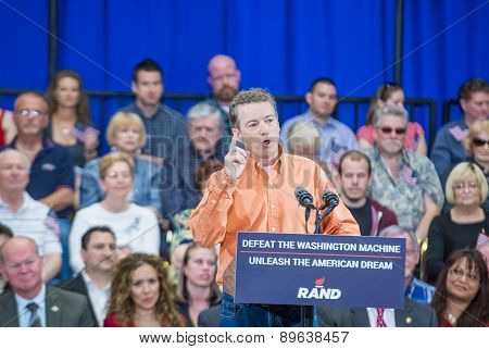 Rand Paul Campaigns At Las Vegas