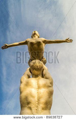 Stone Statue Ballet Dancers