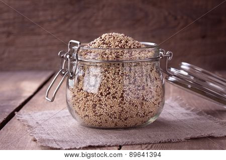 Quinoa On The Wooden Desk