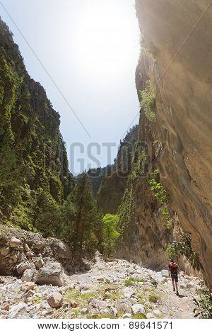 Hiking within the Samaria Gorge