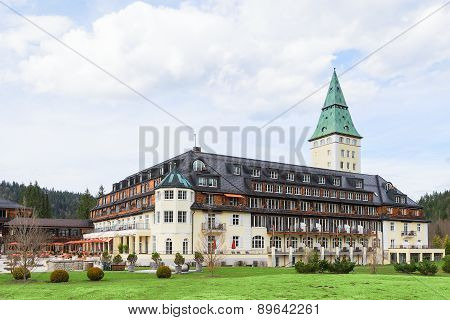 The 41St Forum Summit G7 In Prestigious Hotel Schloss Elmau