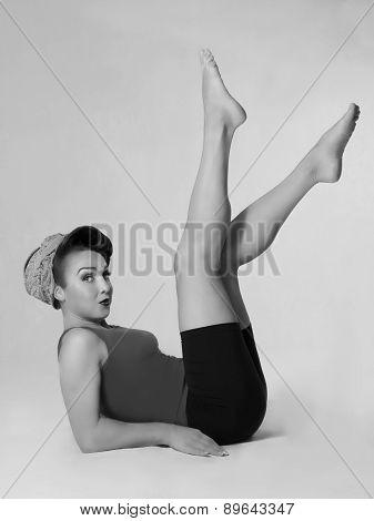 Famous retro pose foto