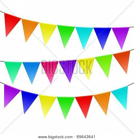 Colorful Bunting And Garland Set