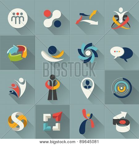 Abstract logo and web icon set