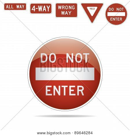 do not enter traffic signs