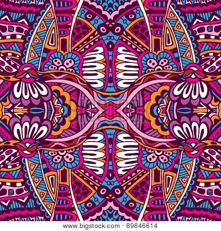 Abstract festive  ethnic tribal pattern