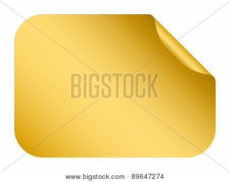 Vector Gold Blank Bent Sticker