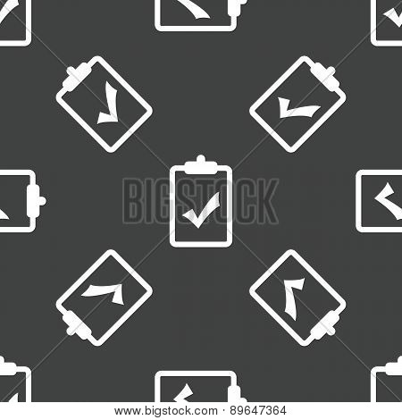 Clipboard with tick mark pattern