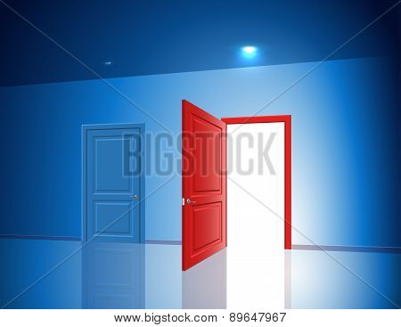 Doors Two Choice Variant Light Open Closed Room Chance
