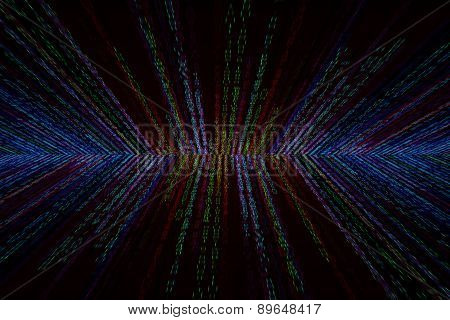Matrix Background With The Colorful Symbols, Motion Blur
