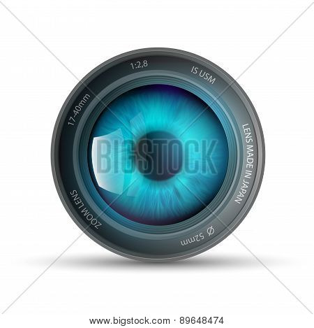 Eye Inside The Camera Lens