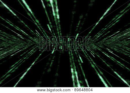 Matrix Computer Generated Symbols On Black Background