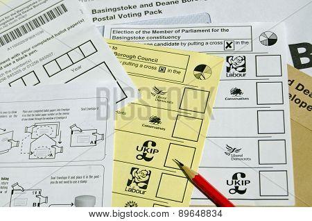 Postal Ballot forms