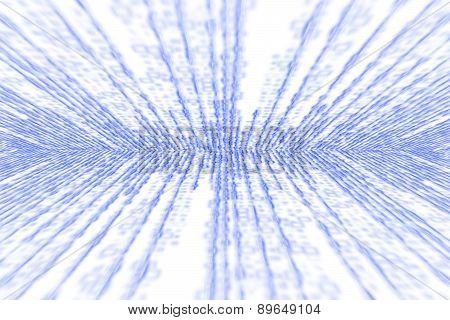 Blue Matrix Digital Generated On White Background