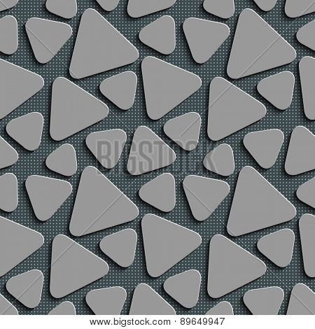 Seamless Triangle Pattern. Abstract Gray Background. Vector Regular Texture