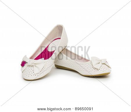 Ballet Shoes Isolated On The White
