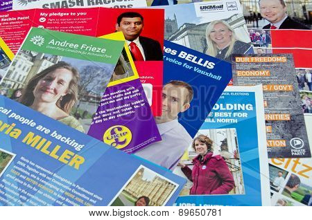 General Election leaflets, UK 2015