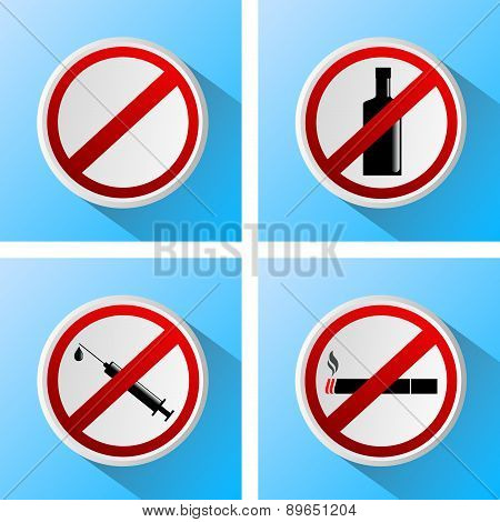 Signs That Prohibit Bad Habits