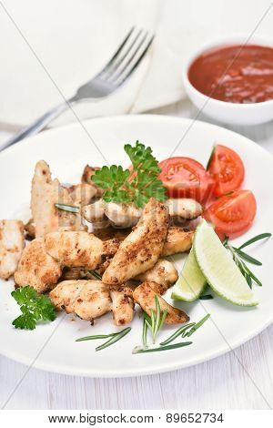 Chicken Roasted Meat And Vegetable