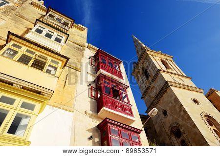 The View On Vallettas Buildings, Malta