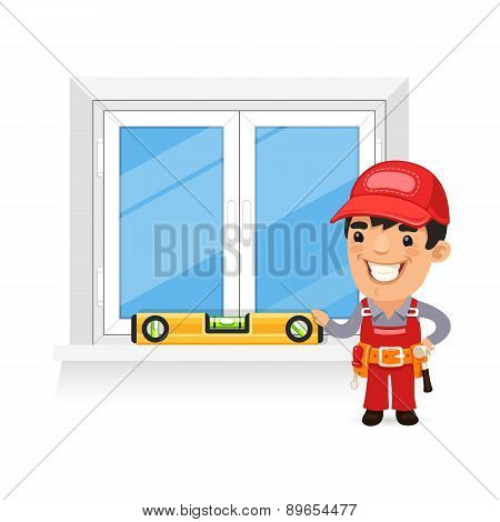 Carpenter Checks the New Window