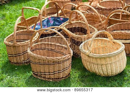 Wicker Baskets At Market