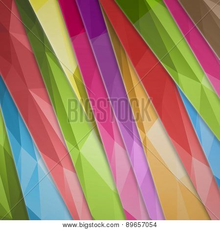 Vector Abstract Background Color Inclined Lines. Vector Illustration.