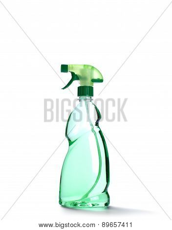 Spray Bottle With Green Liquid