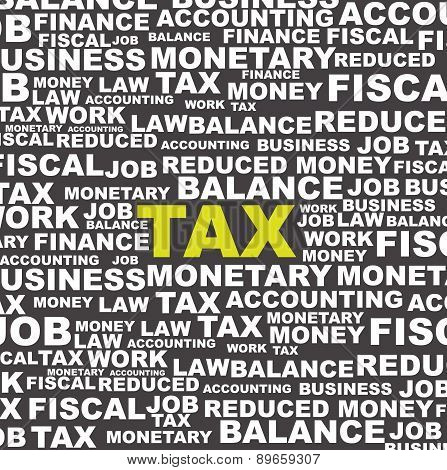Tax Illustration Over Gray Background Lettersvector